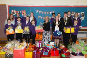Mayor's support of two local good causes inspires Onchan School