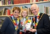 Mayor and Mayoress join Mardis Gras activity session at the library