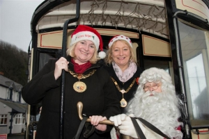 Claus for celebration as Mayor launches Santa horse tram service