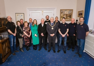 Douglas RNLI members welcomed to the Town Hall